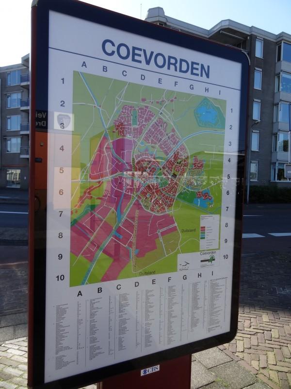 Plattegrond Coevorden (Nederland)