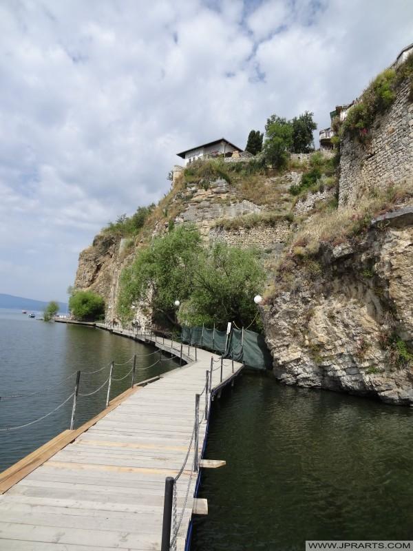 мол на језеру Охридског (Македонија)