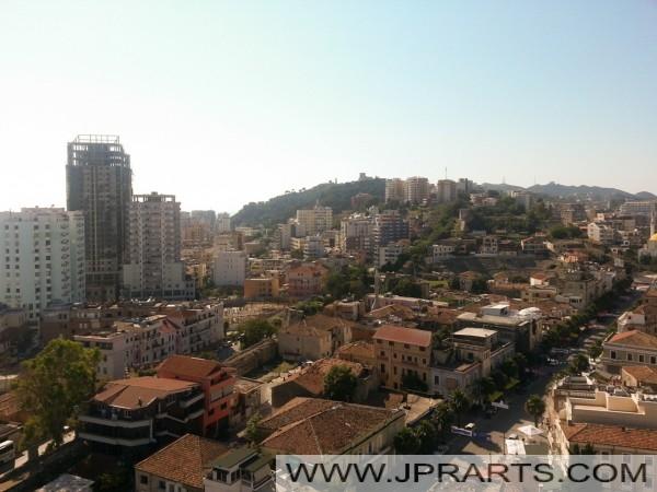 Luftaufnahme der Altstadt von Durrës (Albanien)