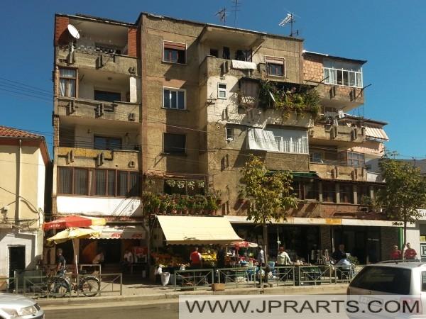 Oud flatje in Pogradec (Albanië)