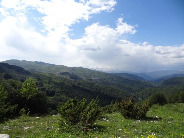Blick vom Berg Bistra (Mazedonien)