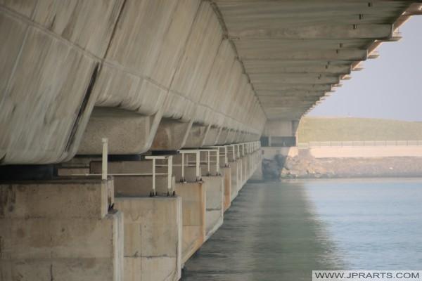 In der Nähe der Deltawerke (Neeltje Jans, die Niederlande)