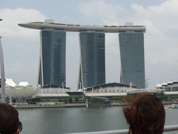 Front view Marina Bay Sands Hotel