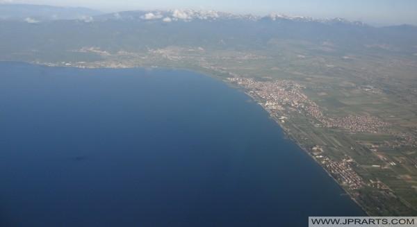 Photos aériennes des lacs dans le monde