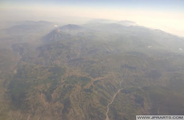 антенски поглед македонските планини