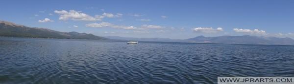 Panoramiczny widok Prespa (Macedonia)