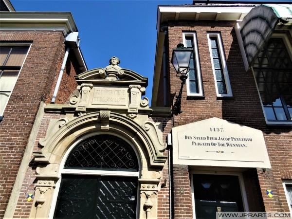 Poort van de Coöperatieve Handelsdrukkerij in Leeuwarden, The Netherlands