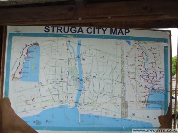 Мапа на градот Струга (Македонија)