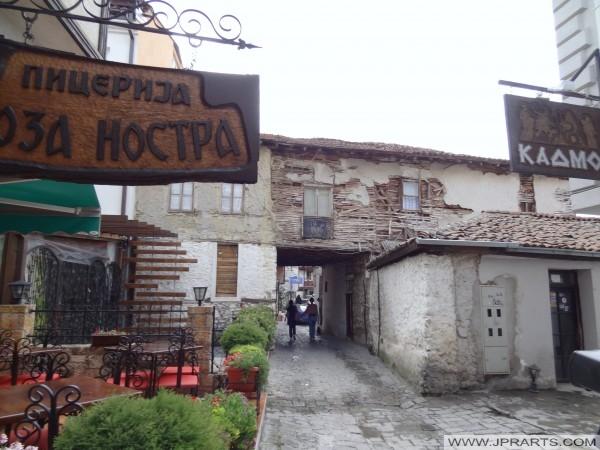 Blick auf die Straße von Ohrid (Mazedonien)