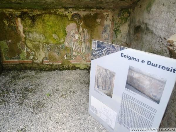 Antiken Mosaiken im Amphitheater Durres