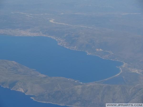 pamje ajrore e gjirit të Vlorës