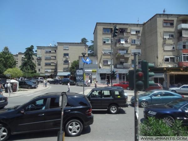 Staré byty v Tirana (Albánie)