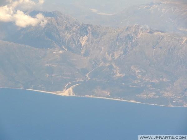 côtes de l'Albanie