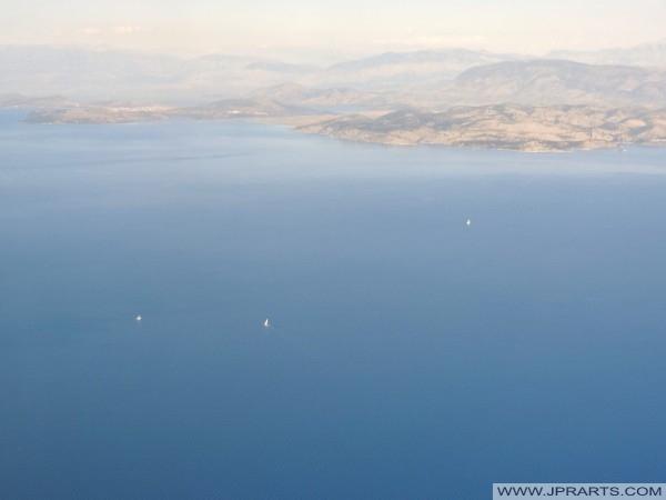 Adriatische Zee en de Albanese kust