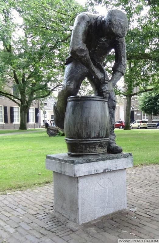 Statue 'De Kuiper' à Assen, Pays-Bas