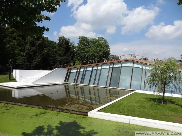 Museumtuin van het Drents Museum in Assen, Nederland