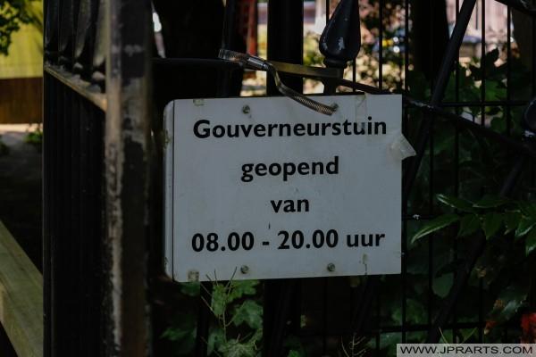 Orari di apertura della Gouverneurstuin a Assen, Paesi Bassi