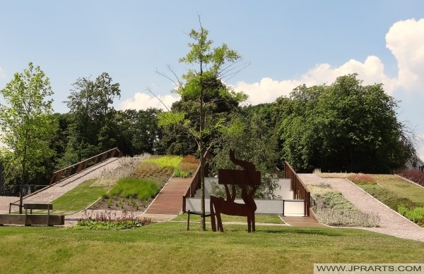 Überblick den Jacob Cramer Park (Assen, Niederlande)