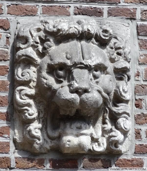 Console à tête du Lion dans le Museumlaantje à Assen, Pays-Bas