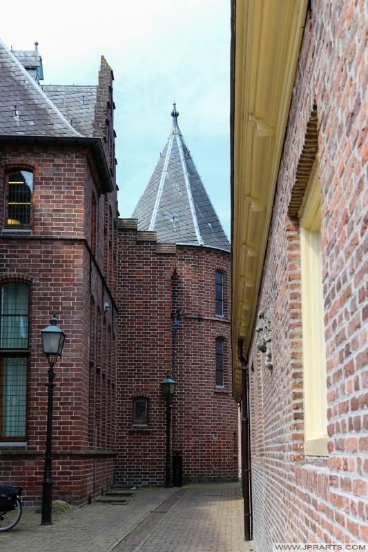 vedere frumoasă a Museumlaantje din Assen, Olanda
