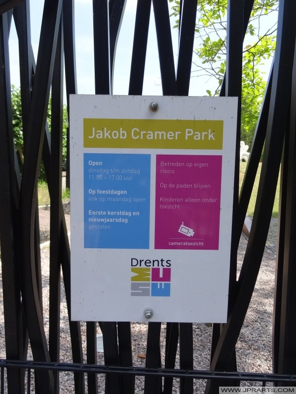 Informacije znak Jacob Cramer Park (Assen, Nizozemska)