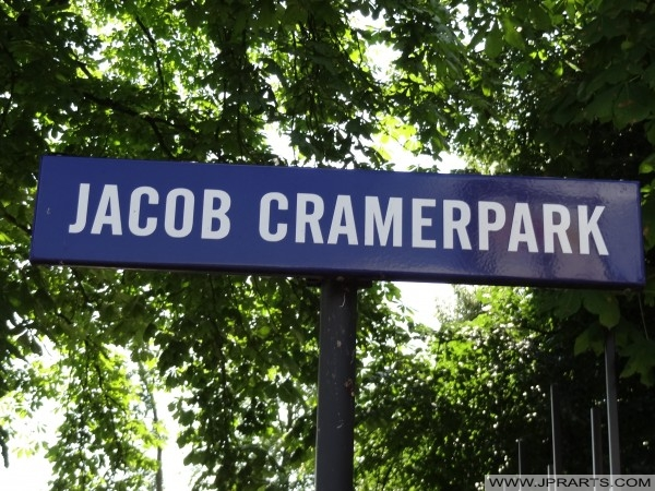 Straatbordje Jacob Cramerpark (Assen, Nederland)
