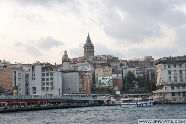 Galata Tower and Galata Bridge (Istanbul, Turkey)