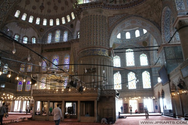 16. yüzyılın Sultanahmet Camii İç (İstanbul, Türkiye)