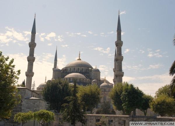 Sultan-Ahmed-Moschee oder Blaue Moschee (Istanbul, Türkei)