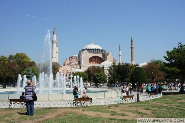Fotografieren der Hagia Sophia (Istanbul, Türkei)