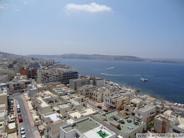 Ilmakuva Bugibba ja St. Paulin lahdella, Malta