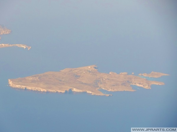 Arial view of Comino (Malta)