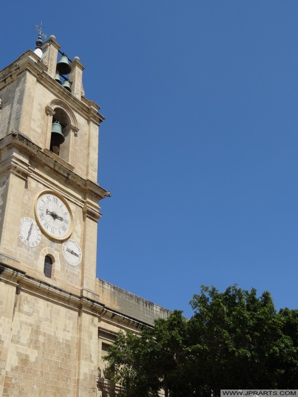 Glockenturm von St. Johns Co-Cathedral in Valletta, Malta