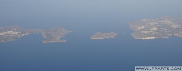 Widok z lotu ptaka Comino między Malcie i Gozo