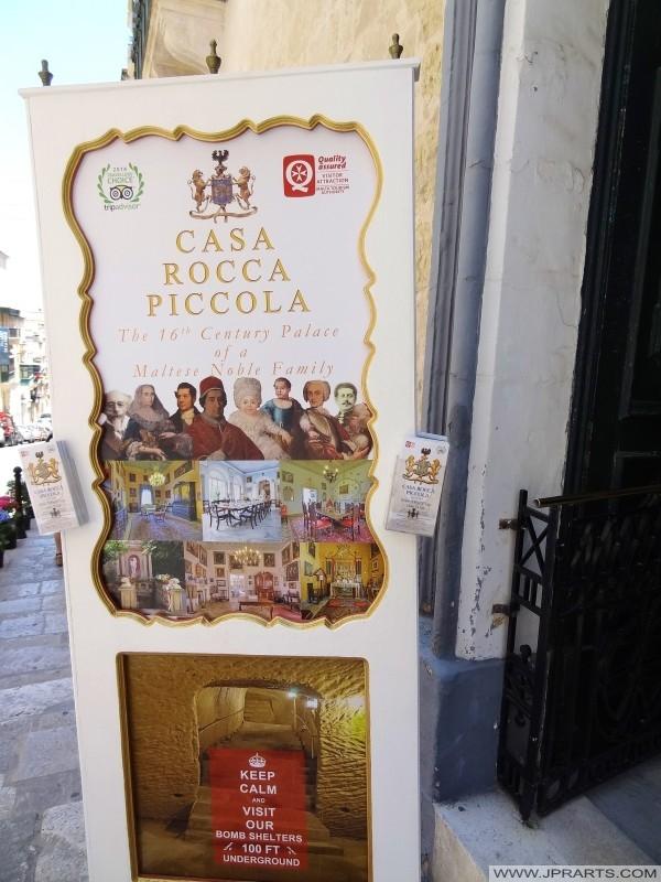 Informazioni Casa Rocca Piccola (Valletta, Malta)