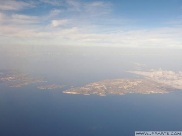 Vista Aérea de Ridge Marfa (Malta), Comino y Gozo