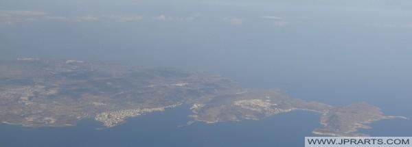 Veduta aerea della baia baia Mellieha e Baia di San Paolo, Malta