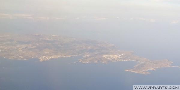 Luchtfoto Mellieha Bay en St. Paul's Bay (Malta)