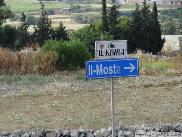 Cartello Il-Mosta (Malta)