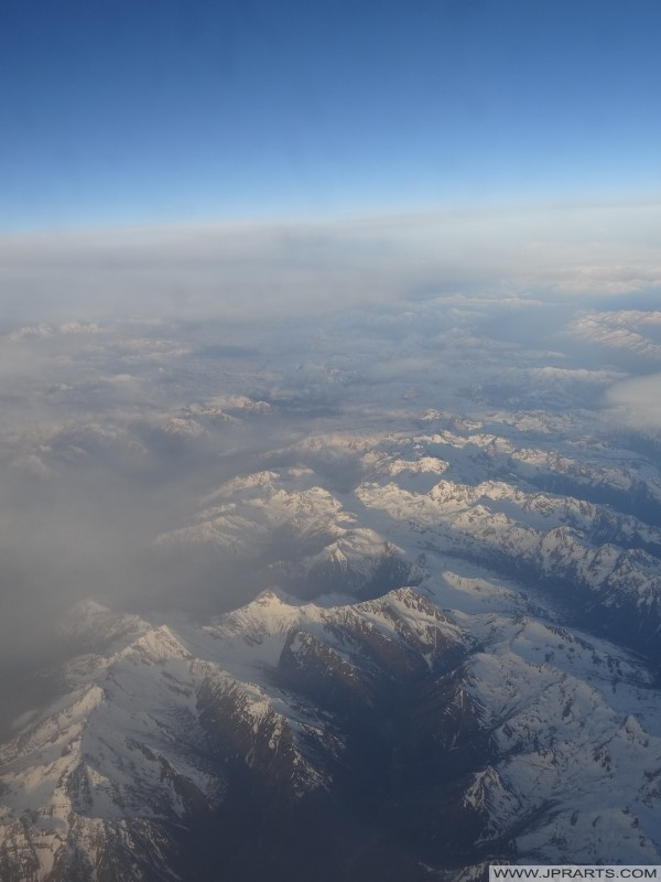 Aerial views Alps