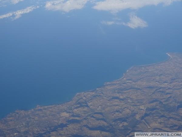 Luftaufnahme Süd-Sizilien, Italien