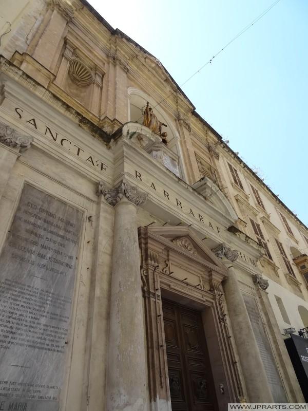 Santa Bárbara Igreja em Valletta, Malta