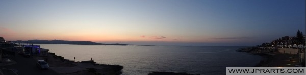 Закат в бухте Святого Павла, Мальта
