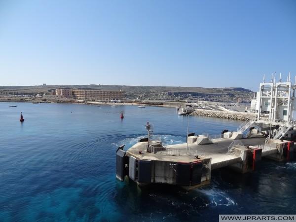 Ċirkewwa Ferry Terminal and Paradise Bay Hotel (Malta)