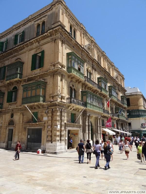 Bâtiment sur la rue de la République à Valletta, Malte