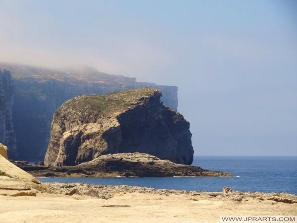 Fungus Rock in Dwejra (Gozo, Malta)