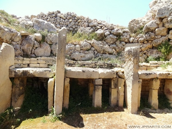 Altar in der Ggantija Tempel (Gozo, Malta)