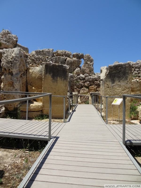 Wejście Świątynia Ggantija (Gozo, Malta)
