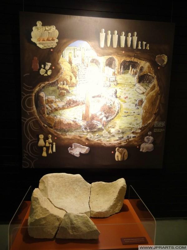 אבן שנמצאה במעגל שארה. תמונה שצולמה במוזיאון במקדשי Ġgantija על גוזו, מלטה
