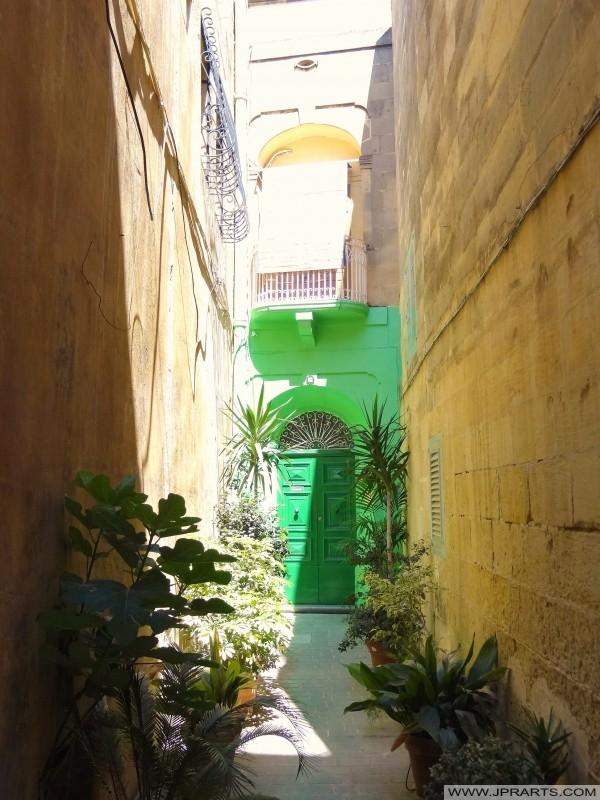 Ślepej uliczce w Victoria, Gozo, Malta